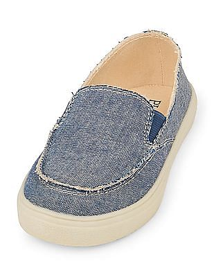 The Children's Place Toddler Boy Chambray Street Slip-On Shoe