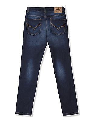 FM Boys Blue Boys Mid Rise Stone Wash Jeans