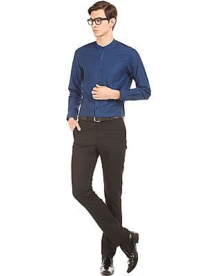 Arrow Jacquard Weave Slim Fit Shirt