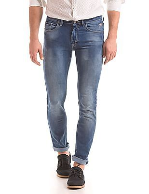 Flying Machine Slim Tapered Fit Stone Wash Jeans