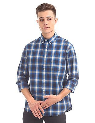 Aeropostale Button Down Check Shirt
