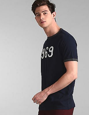 GAP Blue 1969 Ringer T-Shirt