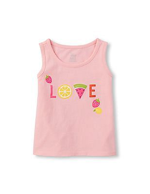 The Children's Place Toddler Girl Sleeveless Embellished Graphic Tank Top