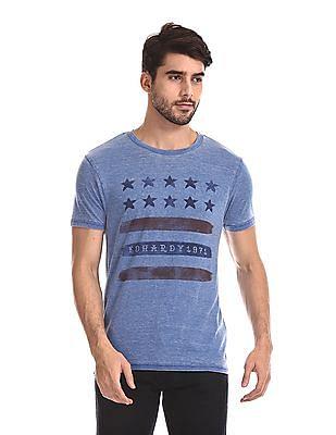 Ed Hardy Slim Fit Flag Print T-Shirt