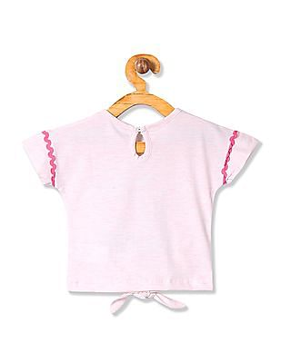 Donuts Girls Embroidered Extended Sleeve Top