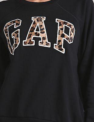 GAP Brand Applique Crew Neck Sweatshirt