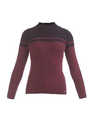Nautica Striped Ribbed Knit Sweater