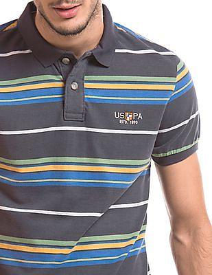U.S. Polo Assn. Denim Co. Striped Slim Fit Polo Shirt