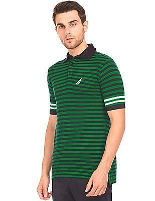 Nautica Slim Fit Striped Polo Shirt
