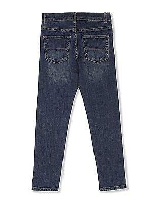 The Children's Place Boys Blue Super Skinny Whiskered Jeans