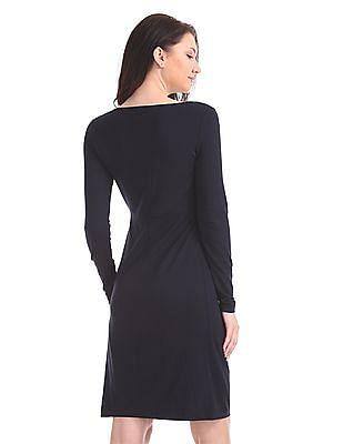 Gant Diamond Front Pleated Dress