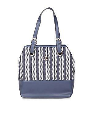 U.S. Polo Assn. Women Patterned Weave Tote Bag