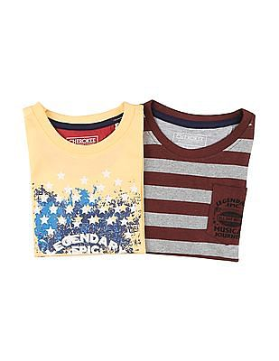 Cherokee Boys Printed T-Shirt - Pack Of 2