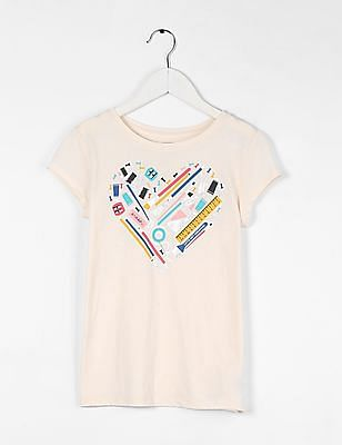 GAP 000000085137224507 Ivory Frost Girls T-Shirt