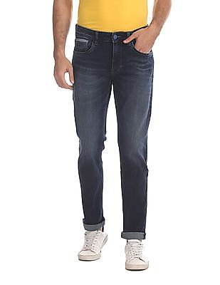 Flying Machine Blue Prince Slim Fit Washed Jeans