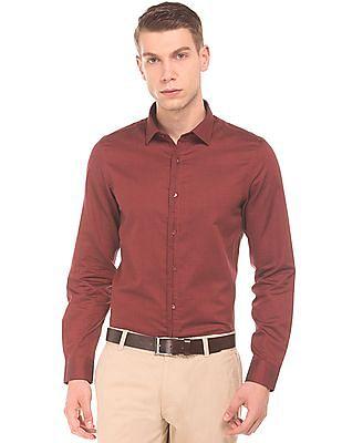 Elitus Semi Concealed Placket Slim Fit Shirt