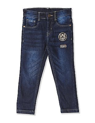 Cherokee Blue Boys Applique Front Regular Fit Jeans