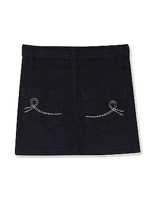 Cherokee Blue Girls Denim Pencil Skirt