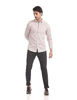 Excalibur Slim Fit Floral Print Shirt