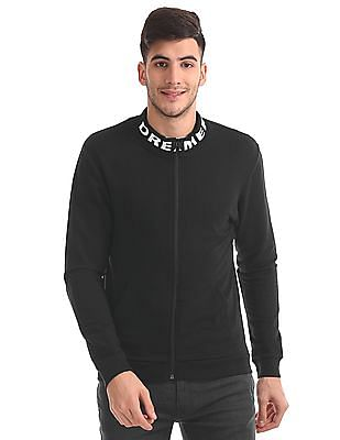 Flying Machine Slim Fit Zip Up Sweatshirt