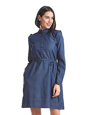 Cherokee Long Sleeve Shift Dress