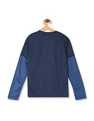 Cherokee Blue Boys Doctor Sleeve Active T-Shirt