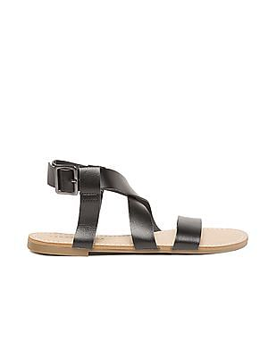 Aeropostale Cross Strap Open Toe Sandals