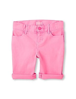 The Children's Place Girls Cuffed Woven Skimmer Shorts
