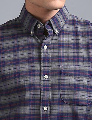 GAP Plaid Oxford Shirt In Stretch