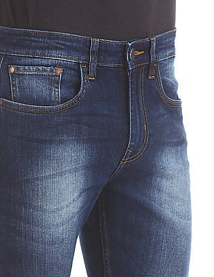Arvind Slim Fit Stone Wash Jeans