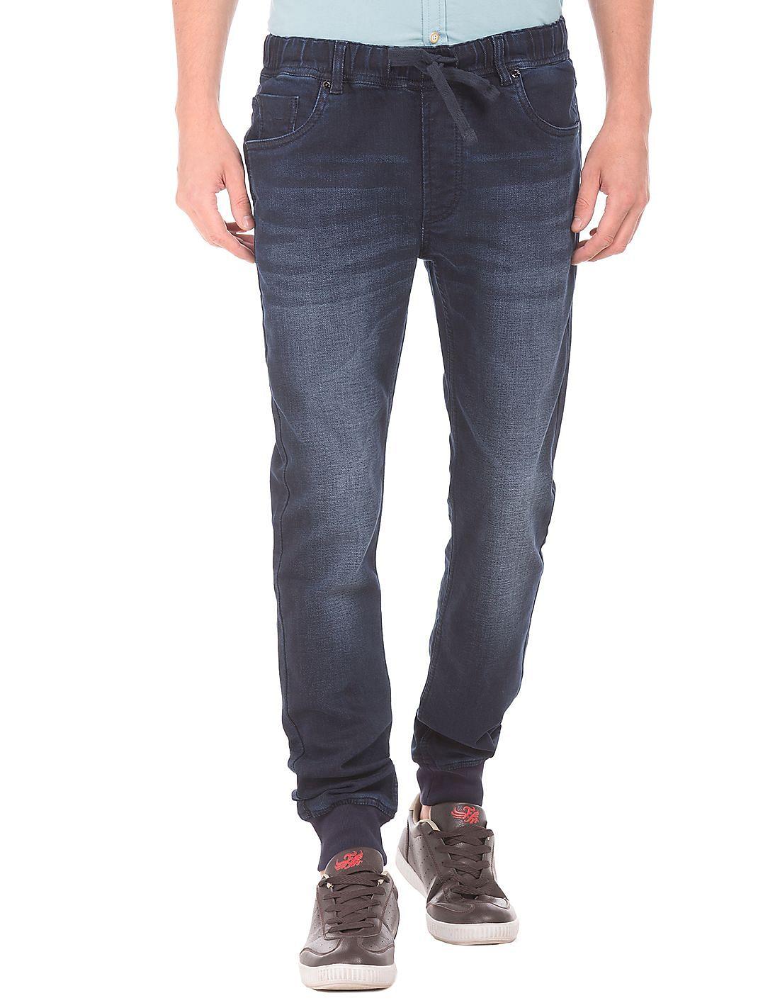 Buy Flying Machine Men Regular Fit Washed Jogger Jeans ...