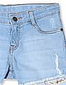 Cherokee Girls Distressed Denim Shorts