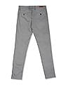 Roots by Ruggers Grey Modern Slim Fit Printed Trousers