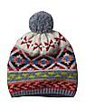 GAP Women Multi Colour Crazy Fair Isle Merino Wool Blend Beanie
