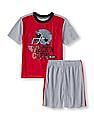The Children's Place Boys Short Sleeve 'Wreck'n It' Football Helmet Top And Shorts PJ Set