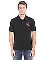 Flying Machine Washed Regular Fit Polo Shirt