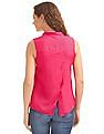 SUGR Sleeveless Cross Over Back Top