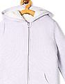 The Children's Place Purple Girls Hooded Sherpa Sweatshirt