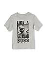 The Children's Place Toddler Boy Short Sleeve 'Like A Boss' T-Rex Graphic Tee