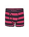 Aeropostale Striped Cotton Elastane Trunks