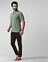 True Blue Slim Fit Patterned Polo Shirt