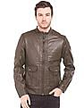 U.S. Polo Assn. Denim Co. Regular Fit Textured Biker Jacket