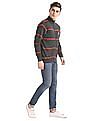 Izod Striped Zip Up Sweater