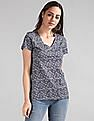GAP V-Neck Floral Print T-Shirt