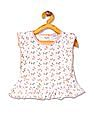 Donuts Girls Printed Flutter Sleeve Tunic