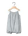 GAP Baby Grey 1969 Railroad Stripe Denim One Piece