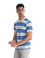 Ruggers Blue And Grey Striped Pique Polo Shirt