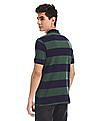 Ruggers Green And Blue Cotton Striped Polo Shirt