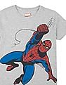 FM Boys Boys Spiderman Print Heathered T-Shirt