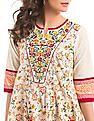 Anahi Embroidered Overlay Kalidar Kurta